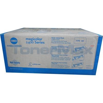QMS MAGICOLOR 2400 120V TONER KIT CMY